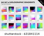big set of trendy holographic... | Shutterstock .eps vector #631841114