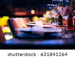 luxury table setting   | Shutterstock . vector #631841264