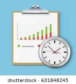 vector illustration of timing... | Shutterstock .eps vector #631848245