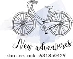 new adventures calligraphy... | Shutterstock .eps vector #631850429