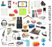 objects  collection isolated on ... | Shutterstock . vector #63185128