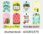 summer set of sale and gift... | Shutterstock .eps vector #631851575