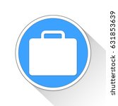 Suitcase Button Icon Business...