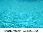blue water in the pool...