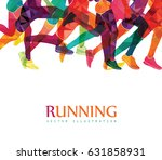 running marathon  people run ... | Shutterstock .eps vector #631858931