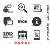 byod icons. human with notebook ... | Shutterstock .eps vector #631859885