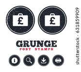 grunge post stamps. case with...   Shutterstock .eps vector #631859909
