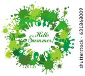 hello summer  vector... | Shutterstock .eps vector #631868009