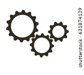 gears on a white background.... | Shutterstock .eps vector #631874129