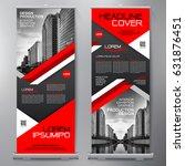 business roll up. standee... | Shutterstock .eps vector #631876451