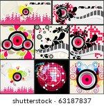 set of elegant music backgrounds   Shutterstock . vector #63187837