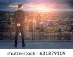 back view of young businessman... | Shutterstock . vector #631879109
