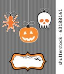 halloween decorations with... | Shutterstock .eps vector #63188161