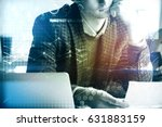 close up of young businessman... | Shutterstock . vector #631883159