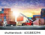 logistics import export... | Shutterstock . vector #631883294