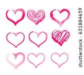 hearts icon set | Shutterstock .eps vector #631884659