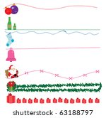 christmas design elements | Shutterstock .eps vector #63188797