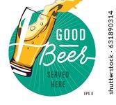 realistic vector beer glass in... | Shutterstock .eps vector #631890314
