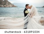 beautiful wedding couple bride... | Shutterstock . vector #631891034