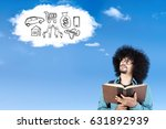 photo of afro college student...   Shutterstock . vector #631892939