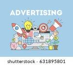 advertising concept... | Shutterstock .eps vector #631895801