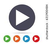 arrow sign icon. next button.... | Shutterstock .eps vector #631900484