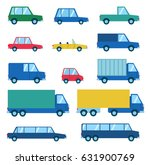 set of various car types.... | Shutterstock .eps vector #631900769
