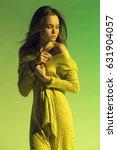 beautiful girl  model in a... | Shutterstock . vector #631904057