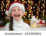 child girl portrait on dark... | Shutterstock . vector #631904831