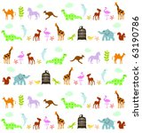 animals pattern | Shutterstock .eps vector #63190786