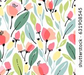 seamless floral pattern with... | Shutterstock .eps vector #631908545