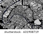 vector map of the city of paris ... | Shutterstock .eps vector #631908719