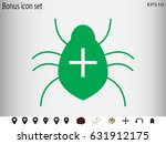 bug  virus  icon  vector...