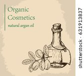 argan oil and fruit. raster... | Shutterstock . vector #631913837