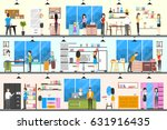 furniture store interior.... | Shutterstock .eps vector #631916435