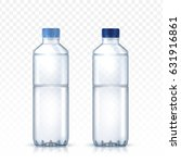 two blank water bottle models... | Shutterstock .eps vector #631916861