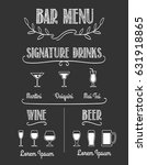 bar chalkboard menu. signature... | Shutterstock .eps vector #631918865