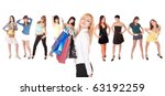 isolated group of beautiful... | Shutterstock . vector #63192259