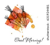 hand drawn carrot set. organic... | Shutterstock .eps vector #631924481