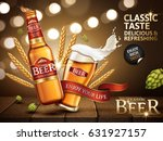 classic beer ad contained in... | Shutterstock .eps vector #631927157