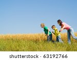 portrait of a happy family of... | Shutterstock . vector #63192766