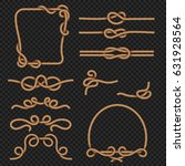 rope border and frames with... | Shutterstock .eps vector #631928564