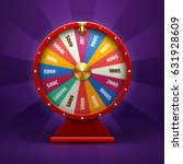 realistic 3d spinning fortune... | Shutterstock .eps vector #631928609