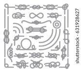 nautical rope knots vector... | Shutterstock .eps vector #631928627