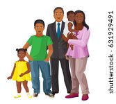 afro american happy family of...   Shutterstock .eps vector #631929491