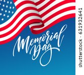 happy memorial day card.... | Shutterstock .eps vector #631932641