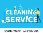 cleaning service concept design ... | Shutterstock .eps vector #631932905