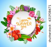 illustration of summer time... | Shutterstock .eps vector #631938671