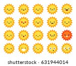summer sun emoji | Shutterstock .eps vector #631944014