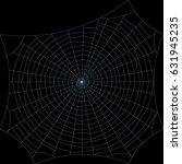 spiderweb. isolated on black... | Shutterstock .eps vector #631945235